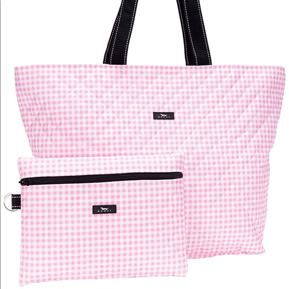 SCOUT Plus 1 Travel Bag Multiple Patterns Available 2 in 1 Foldable Tote Bag Folds into Removable Zipper Pouch
